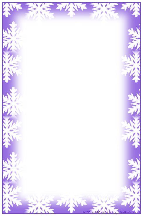 christmas snowflakes border - photo #28