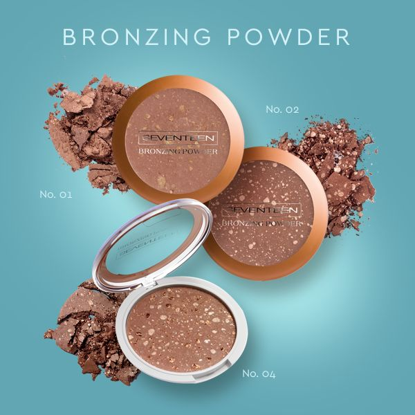 Bronzing Powder | Seventeen Cosmetics Summer is just a step away as Bronzing Powder can give your skin a tanned look. Apply on your on face, shoulders and cleavage! #Seventeen #Cosmetics #bronzer