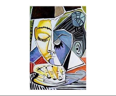 """Obraz """"Głowa czytającej kobiety"""", 60 x 90 cm"""