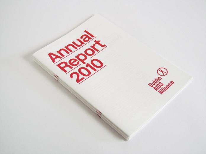 Design @ RMU Peoria: Dublin AIDS Annual Report.. Heavy use of Helvetica