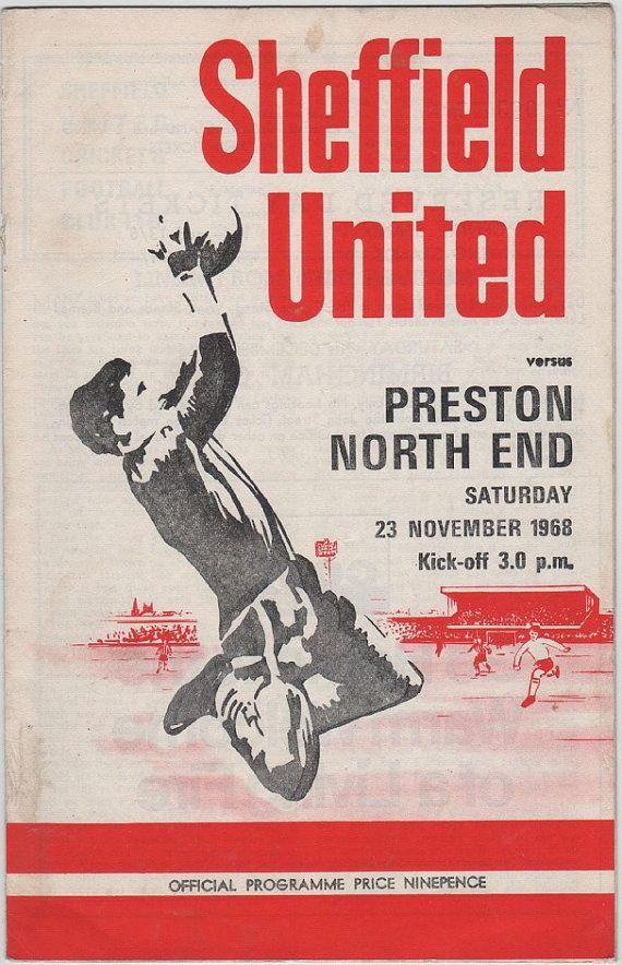 Vintage Football (soccer) Programme - Sheffield United v Preston North End, 1968/69 season #football #soccer