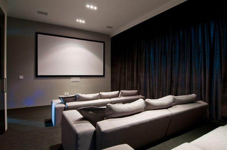 Contemporary Luxury Theatre Room Interior Design . . . love the treys