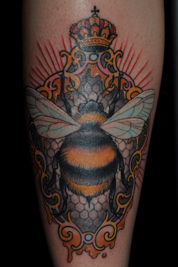 Bee Tattoo By Ryan Mason