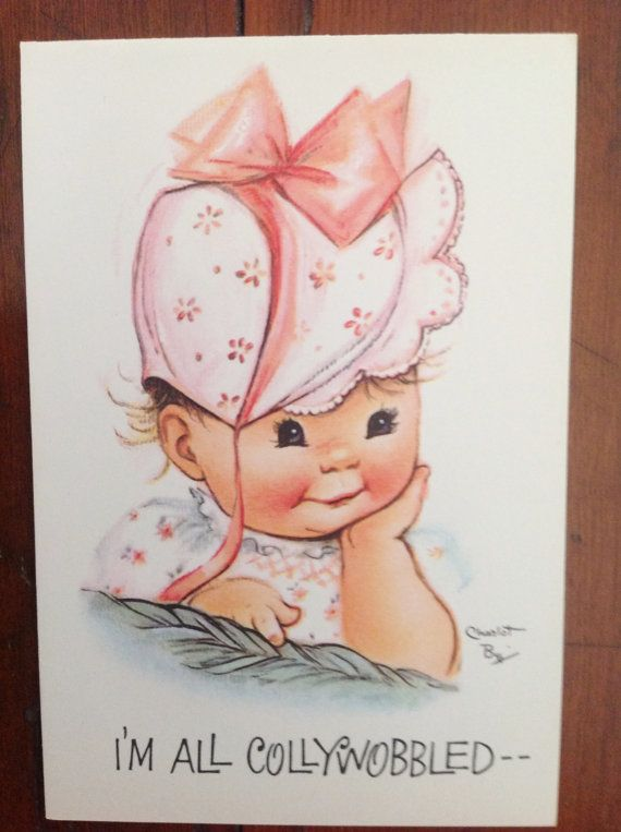 219 best art byj charlotte images on pinterest vintage cards vintage 1940s charlot byj belated birthday card with baby girl bookmarktalkfo Image collections