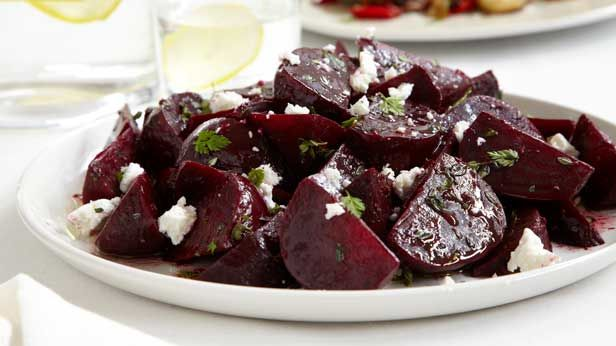 A great family recipe for Beetroot salad with balsamic and goat's cheese.