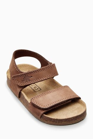 Tan Smart Leather Corkbed Sandals (Younger Boys)