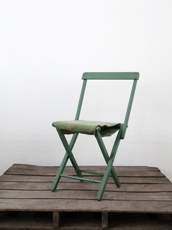 Vintage Camp Chair / Mint Green Folding Chair Von 86home Auf Etsy, $150.00