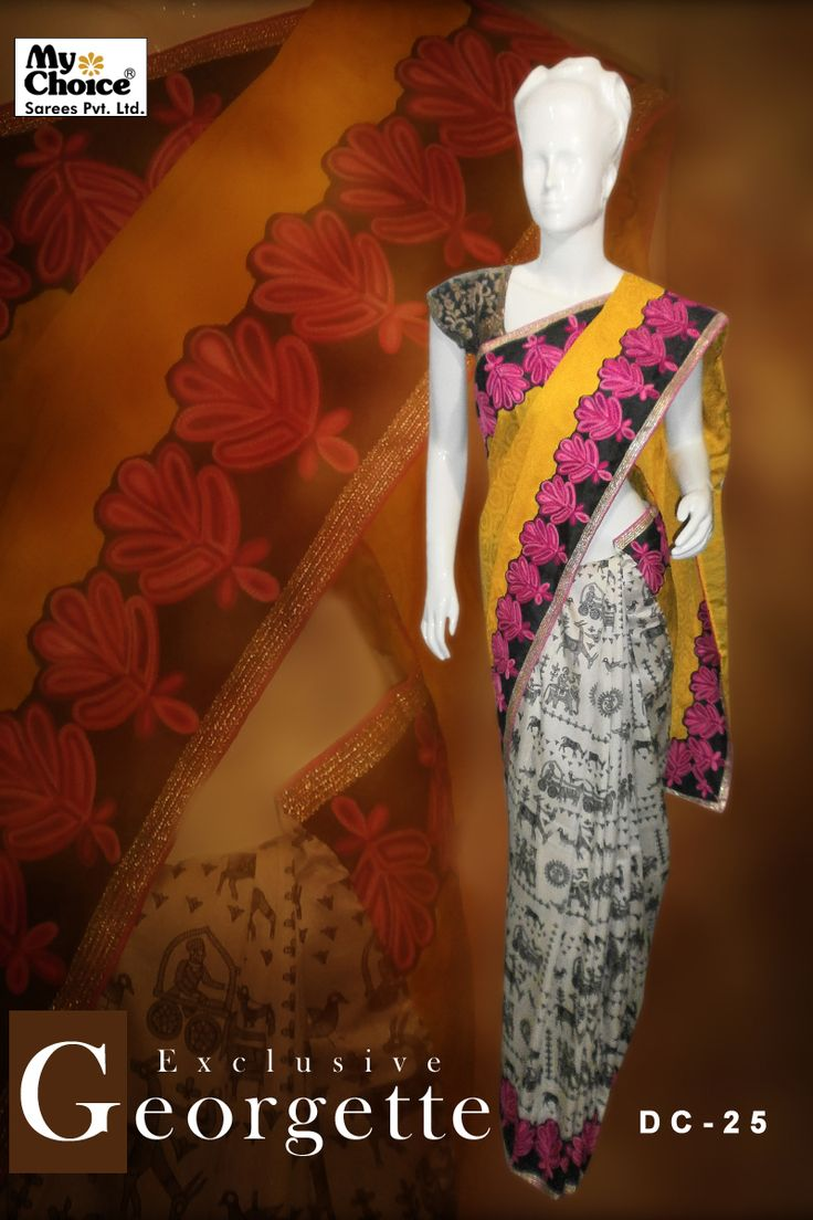 Exclusive Georgette Embroidery Saree DC-26