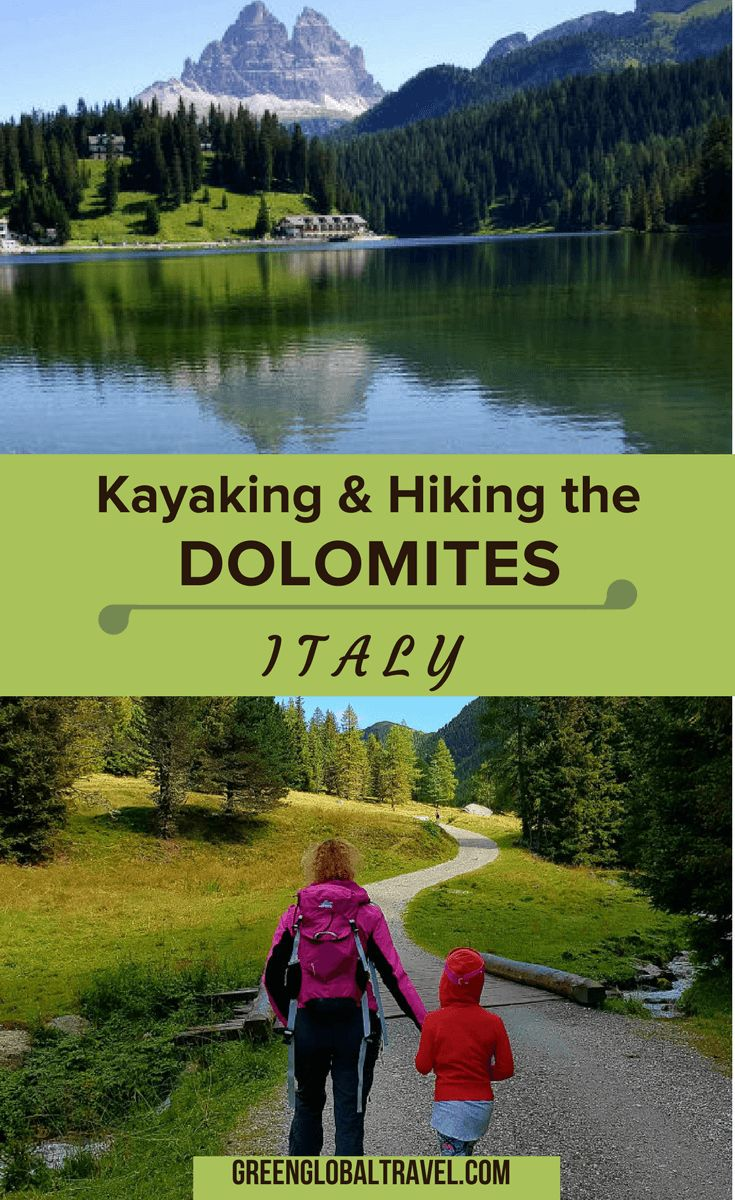 Kayaking and Hiking the Dolomites in Italy, including the best Dolomites hiking trails and several lakes in the region. Use our outdoor recreation-focused Dolomites travel guide to help plan your summer vacation. | Dolomites Italy | Dolomites Italy Hiking