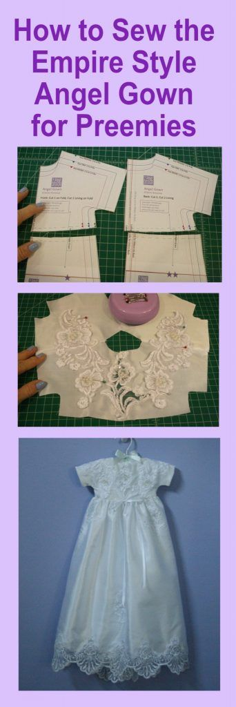 How To Make An Empire Angel Gown 7 Pine Design Free