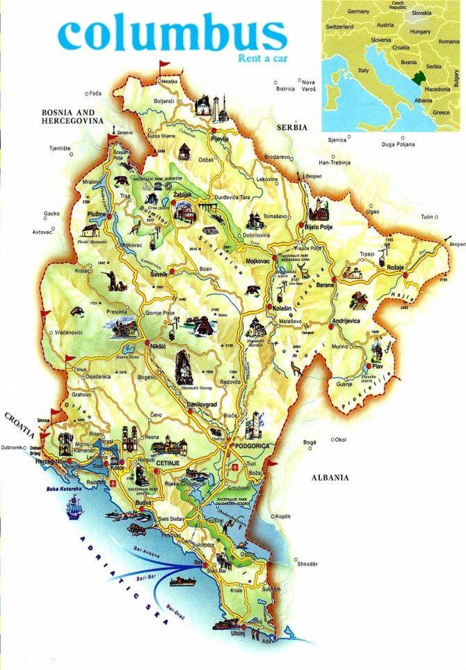 מסלול הכי שווה במונטנגרו עצמאי זוגות משפחות ברכב Montenegro