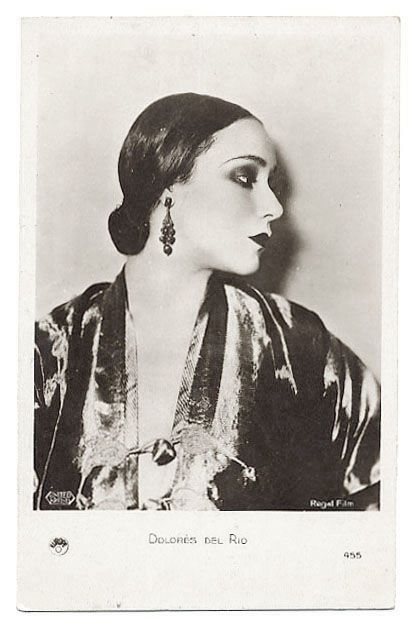 1930 actress dolores del rio silent vamp photo postcard