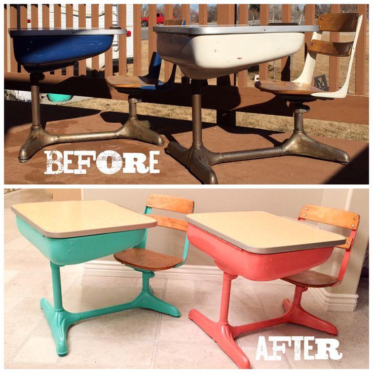 Vintage school desk redo.