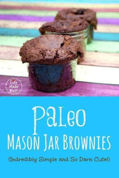 #Paleo Mason Jar Brownies #glutenfree