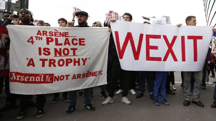 "There Is A #Wenger Out Movement That Involves ""Wexit."" #Arsenal #Arsenalfans #soccerfans #fans #soccermanager #soccerstaff #managers #ArseneWenger"