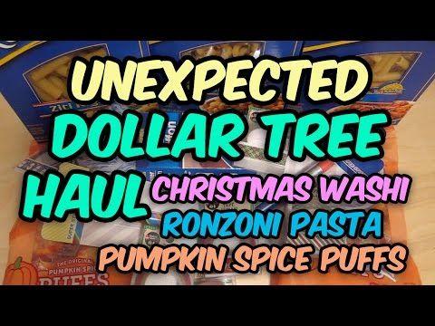 Unexpected Dollar Tree Haul Christmas Washi Tape Ronzoni Pasta Etc - http://www.carryhaulwell.com/2015/10/unexpected-dollar-tree-haul-christmas-washi-tape-ronzoni-pasta-etc/ - christmas, cleaning supplies, dollar tree, haul, pumpkin spice puffs, ronzoni pasta, video, washi tape
