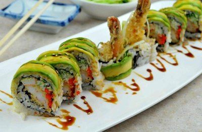 Dragon Roll Sushi Recipe--just want to each this now