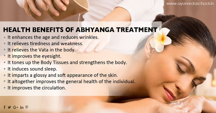 Health benefits of abhyanga treatment. #ayurveda #healthtips #ayurvedatreatments #abhyanga #ayurvedichealth http://www.ayurvedaschool.in/Ayurvedic-Panchakarma-Treatment.html