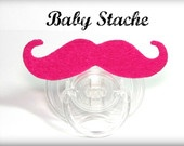 Mustache Pacifier - Baby Mustache - The Wise Guy. $10.50, via Etsy.