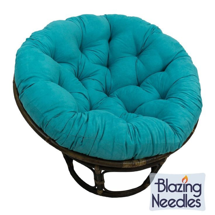 Amazon.com - Microsuede Papasan Cushion / Floor Pillow / Pet Bed, 48 Inch Teal Aqua Blue, Compare to Bean Bag Chairs, Gaming Chairs -