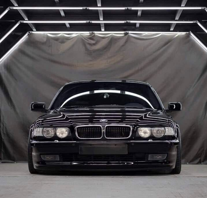 Bmw E38: BMW E38 Black, Front Shoot (With Images)