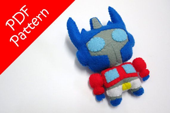 Chibi Optimus Prime Plush PDF Pattern Instant Digital от araleling