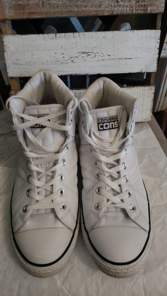 c68185263e21 Converse Cons Hi High Tops White Mens Size 11  fashion  clothing  shoes   accessories  mensshoes  athleticshoes