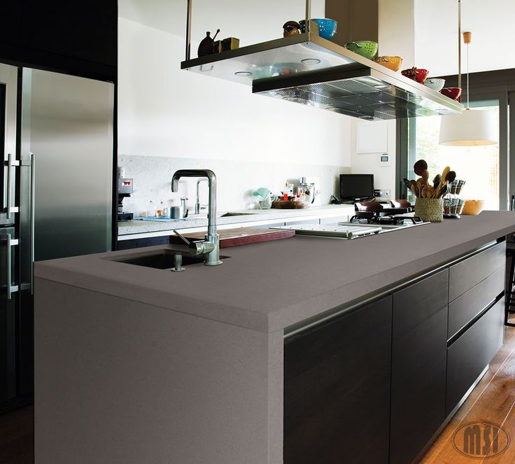Modern Kitchen Quartz Countertops: Heat Up Your Kitchen With This Amazing Waterfall Edge