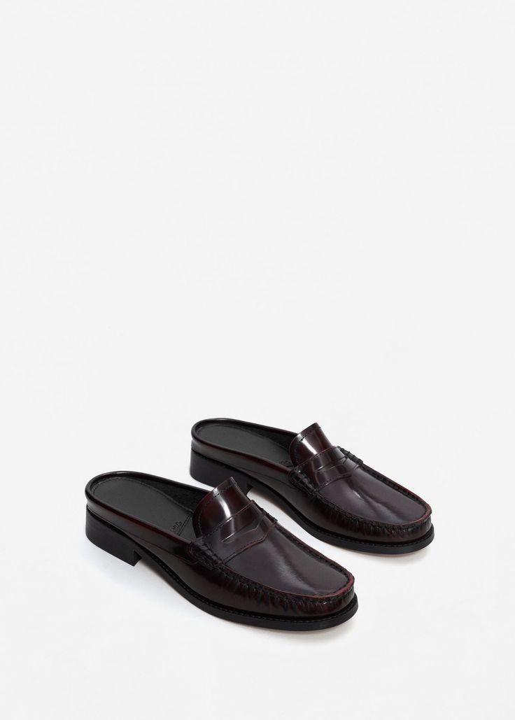 MANGO – Leather Mokassins | Leandra Medine x Mango