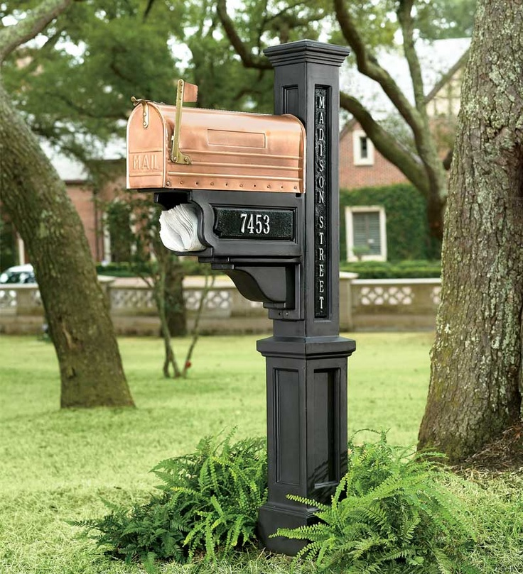 1000 ideas about mailbox post on pinterest mail boxes for Unique mailboxes to buy