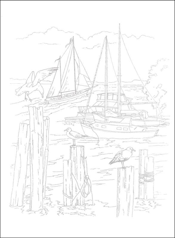 Nautical Coloring Pages For Adults : Nautical scenes to paint or color additional photo