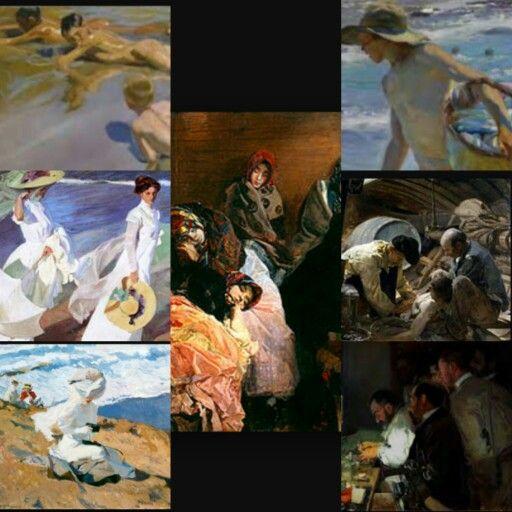 Algunas obras de Joaquín Sorolla