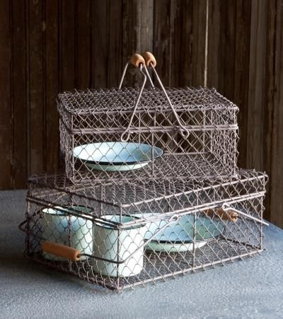 Wire Lunch Box Baskets