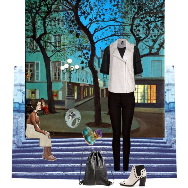 Paris la nuit - Petite place by happiestime on Polyvore featuring moda, Boutique, MANGO, Loeffler Randall, Rampage, Pieces and Luisa Spagnoli
