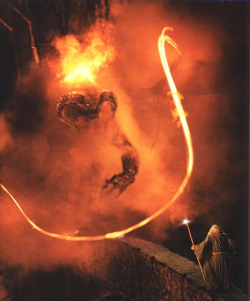 Gandalf and the Balrog | Lord of the rings