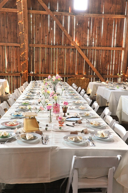 Long Tables Barn Reception