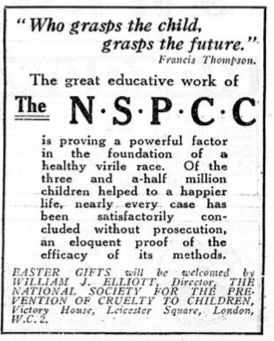 NSPCC. 7 April, 1982