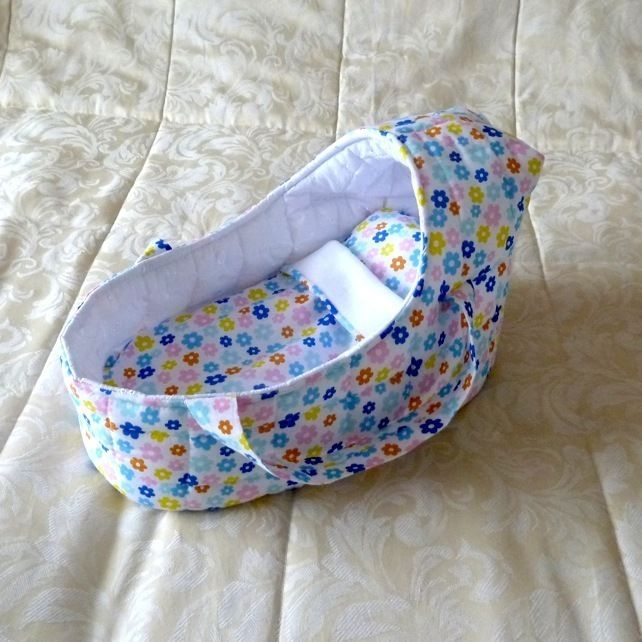Doll's Carrycot multi-coloured suitable for 14 inch dolls £16.99