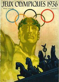 Affiche Couverture Revue  Jeux Olympiques 1936    Berlin