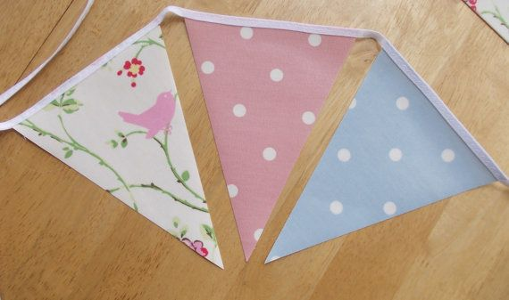 Oil cloth bunting  Garden bunting Outdoor by EgremontCrafts