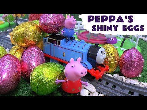 Thomas the Tank Engine Peppa Pig Play Doh 10 Surprise Eggs Cars Huevo Sorpresa Minions Superhero - YouTube