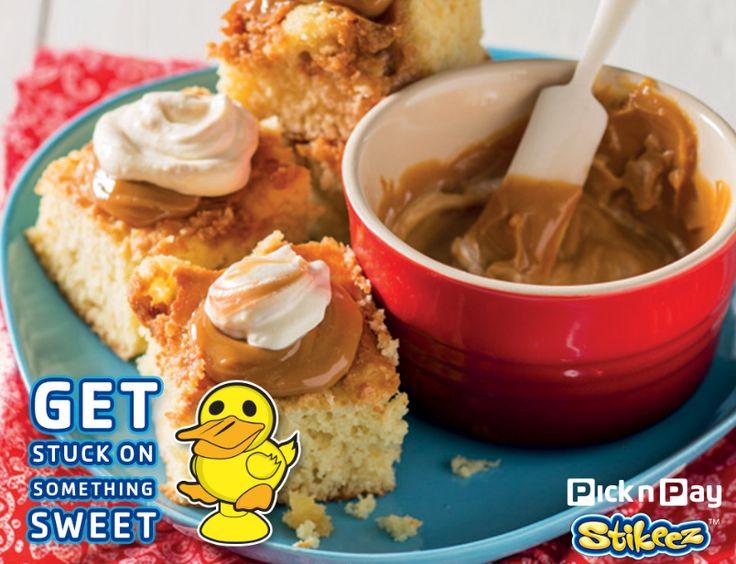 Get stuck on these delicious caramel blondies! #PnPStikeez