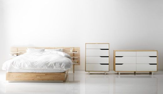 Ikea Aspelund Queen Bed Frame ~ Mandal bed with headboard Ikea Mandal Bed, Fernkloof Bedrooms, Mandal