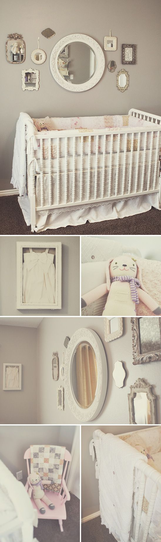 Honest crib for sale - Adore The Arrangement Of Mirrors Above The Crib Perhaps Inspo For One Of