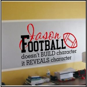 Personalized Football Decal | Children and Teens Christian Wall Decals