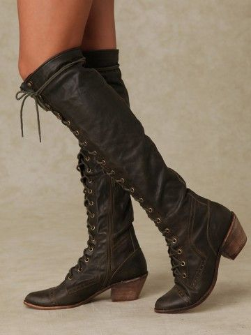 Free People Joe Lace Up Boot.  Great boots, gotta have.