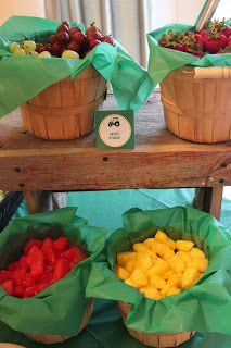 Fruit stand + farm fresh eggs (deviled eggs)