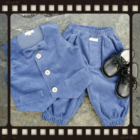 Handmade kids clothes  Hjemmesydd bukse og vest til gutt
