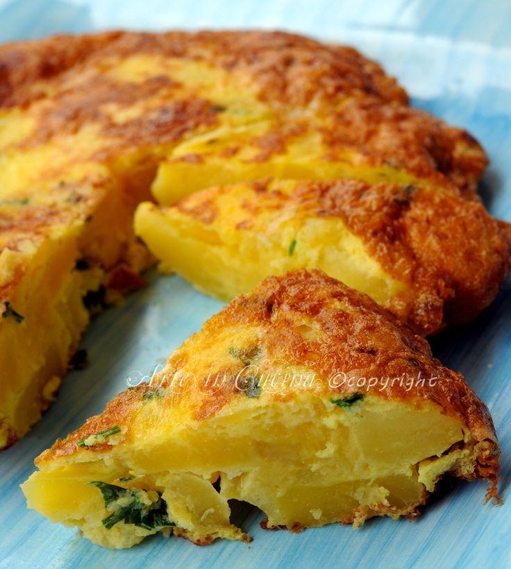 Frittata di patate e scamorza ricetta facile vickyart arte in cucina