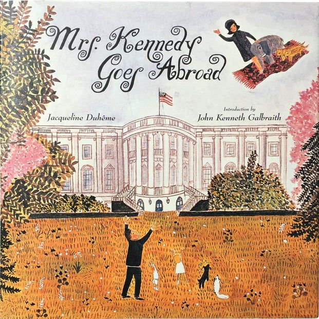Mrs. Kennedy Goes Abroad Book French illustration